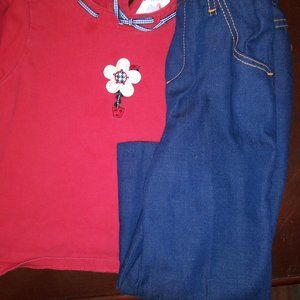 Girls Tee and Jeans outfit